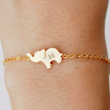 brace cute animal elephant silver jewelry product bracelet charm bangle
