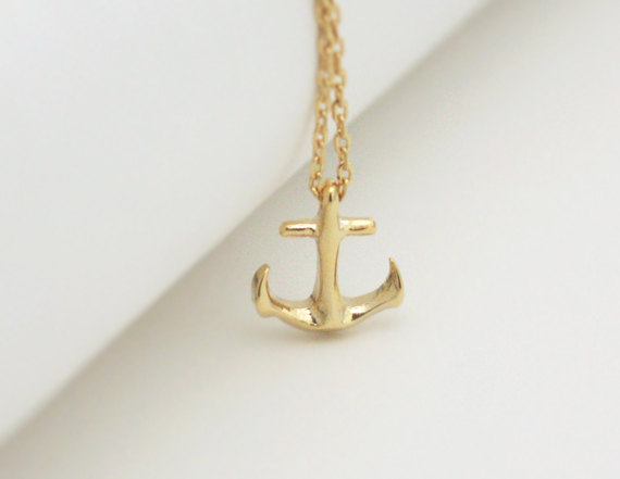 Tiny anchor necklace in gold simple necklace strength sailor tiny anchor necklace in gold simple necklace strength sailor anchor charm aloadofball Choice Image