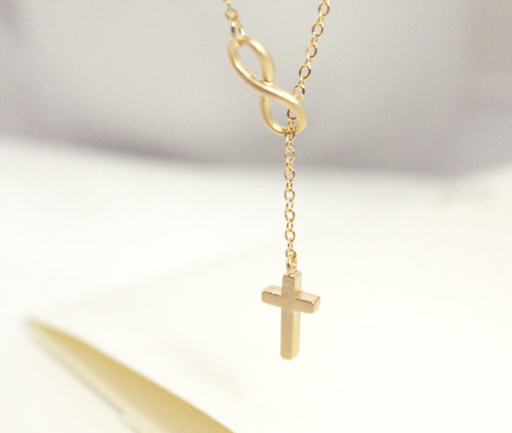for statement fashion with jewelry plated pendant new chain pendants product cross jewily slick silver long necklace luxury infinity