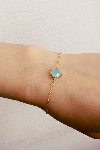 light blue crystal bracelet, Bridesmaid gift